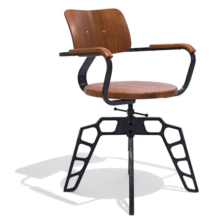 Odyssey Chair — A striking design of steel and wood with an optional leather seat, the Odyssey chair adds a modern industrial element to any environment.