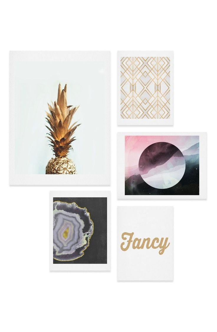 An eclectic set of archival-quality prints instantly enhances the sophisticated vibe of any space.