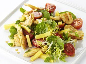 Recepten - Salade met kip en mango