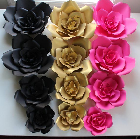 Sale Price Kate Spade Paper Flowers Wall Decorbackdrops Etsy Paper Flower Wall Decor Flower Wall Decor Paper Flower Wall