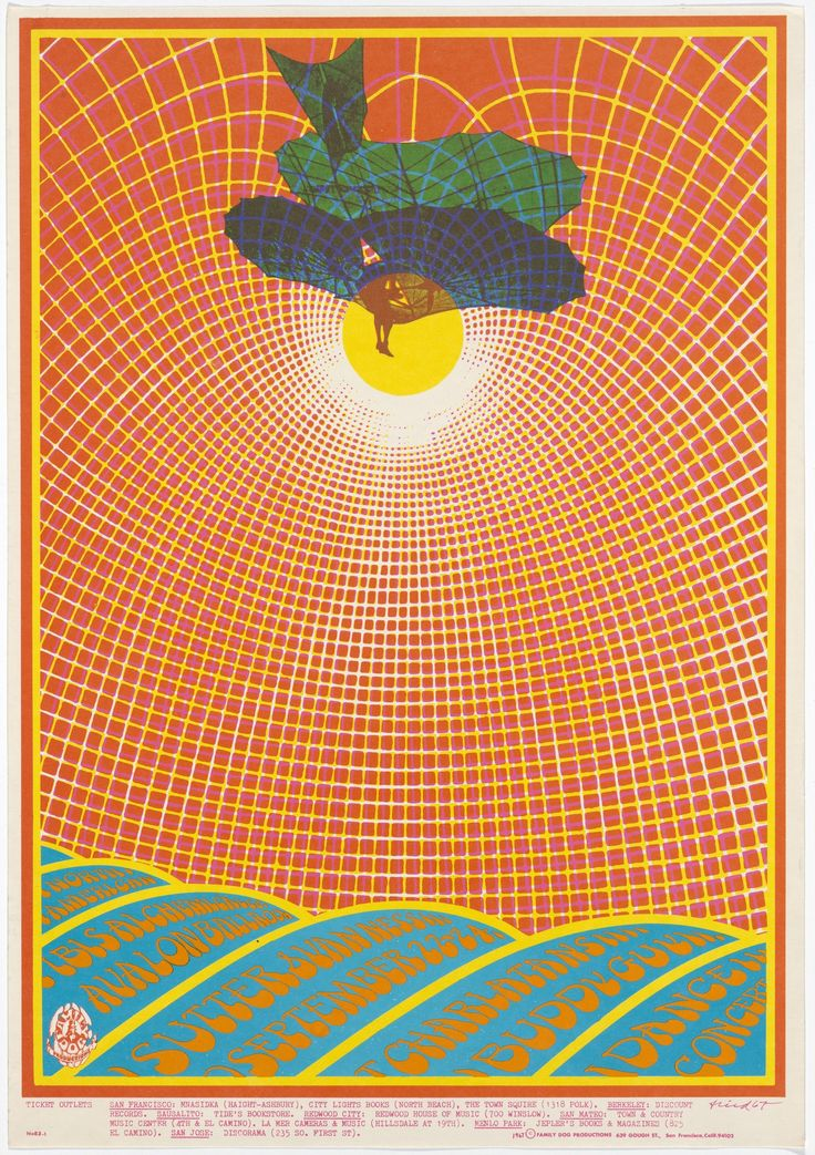 "Robert Fried. The Charlatans, Buddy Guy. 1967. Lithograph. 20 × 14"" (50.8 × 35.6 cm). Family Dog Productions, San Francisco. Anonymous gift. P1434. Architecture and Design"