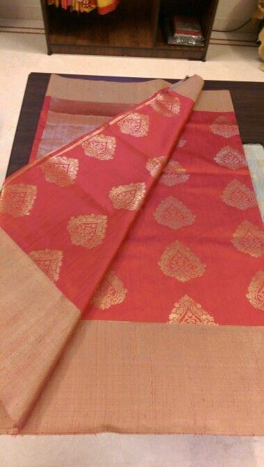 Benaras sarees is beautiful in red
