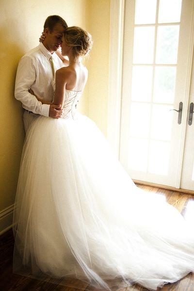 Adorable pic, incredible dress