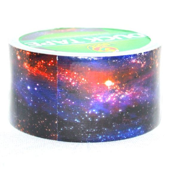 Galaxy Planets Science Stars Outer Space Colors Brand New Duck Brand Duct Tape Roll