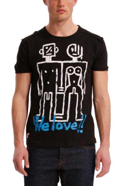 Desigual men's Robots T-shirt.