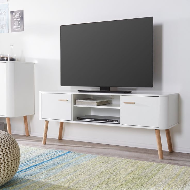 tv lowboard h ngend eiche. Black Bedroom Furniture Sets. Home Design Ideas