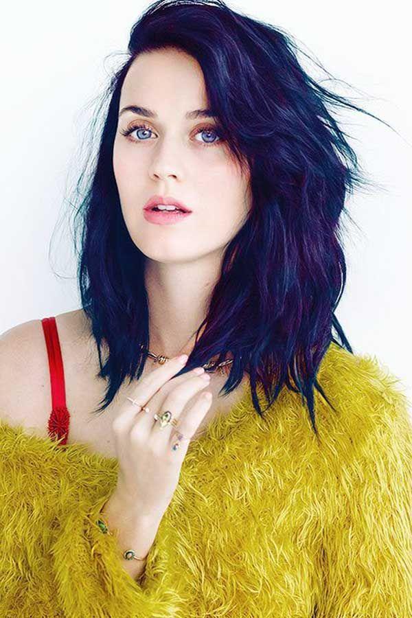 koyu mavi siyah saç
