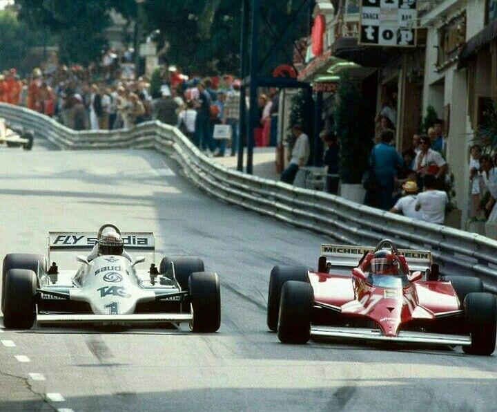 Gilles Villeneuve Alan Jones Grand Prix De Monaco 1981 In 2020 Auto Racing Events Boxer Workout Racing