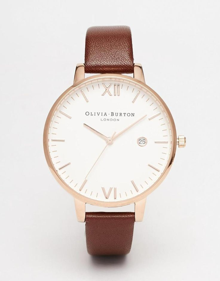Olivia Burton | Olivia Burton Timeless Leather Strap Oversize Dial Watch at ASOS