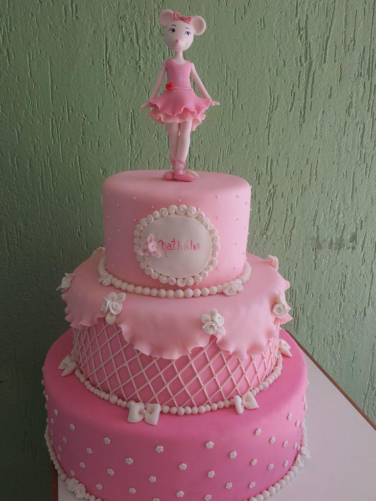 Best Angelina Ballerina Birthday Cake Images On Pinterest - Ballet birthday cake