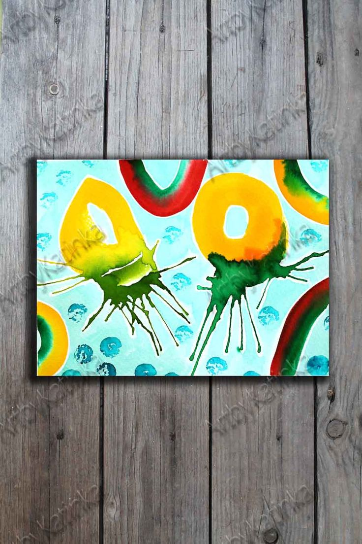 Original Watercolor Painting, Handmade paint, Abstract Art, Anniversary, Birhday gift, Wall Art, Home Decor, Painting Art, Paintig Gift by ARTbyKatinka on Etsy