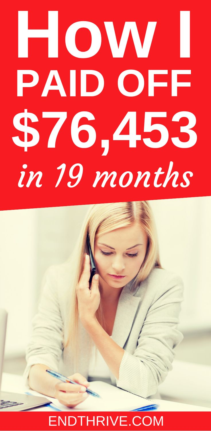 How I Paid Off 76,000 in 19 Months Debt payoff, Student