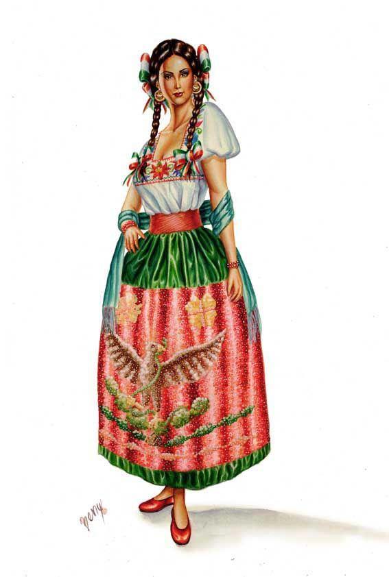 Hoy como saben es el día de la independencia de México así que les dejo esta imagen de un traje típico de Jalisco Viva México!!!! ------------------------------------------------- Today as you know...