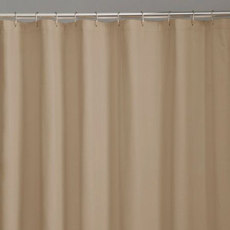 Mainstays Fabric Shower Liner Collection, Brown