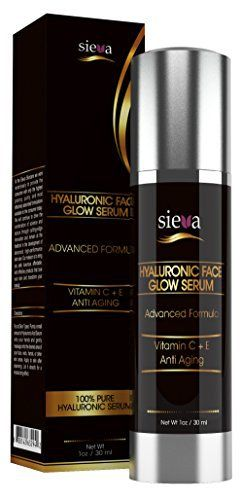 Product review for Hyaluronic Face Glow Serum with Vitamin C+ A+ D+ E - 100% Pure Vegan Hyaluronic Acid Moisturizer for Skin. For Men and Women. Best Anti Aging and Anti Wrinkle Hyaluron Serum - Ultra Collagen Booster - 100% Satisfaction Guaranteed. A Must Have for Glowing Skin - 1 Oz - By Sieva Skincare  - Who doesn't want to look radiant and younger? Bring luxury and a healthy-looking glow to your face. Sieva's Pure Vegan Hyaluronic Face Glow Serum is a new gene