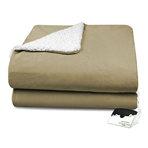 #awesome This #Heated Blanket is 100% Polyester and comes in Twin, Full, Queen and King sizes and decorative colors, Sage and Linen. It is Luxuriously cozy and p...