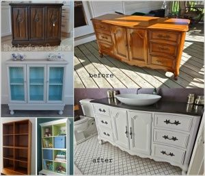 10 Fabulous Before and After Furniture Makeover Projects a
