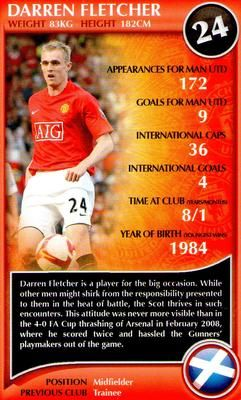 2009 Top Trumps Specials Manchester United #NNO7 Darren Fletcher Front