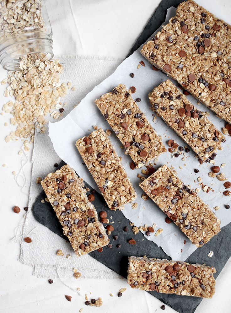 Cinnamon Peanut Butter Granola Bars @themerrythought
