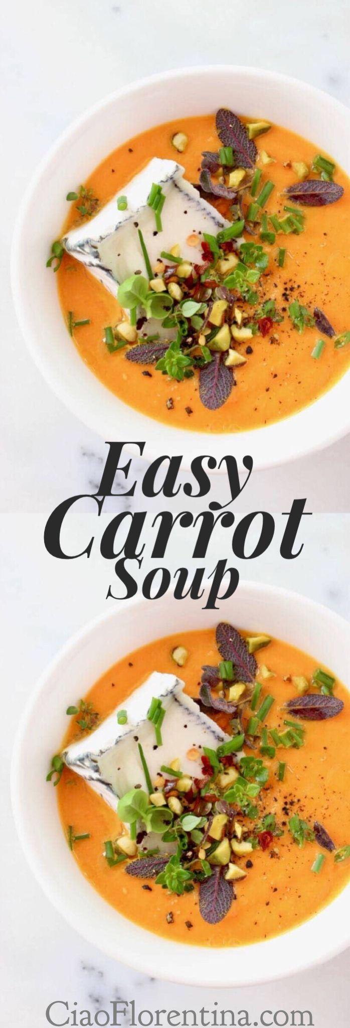 Easy Carrot Soup Recipe  | CiaoFlorentina.com @CiaoFlorentina