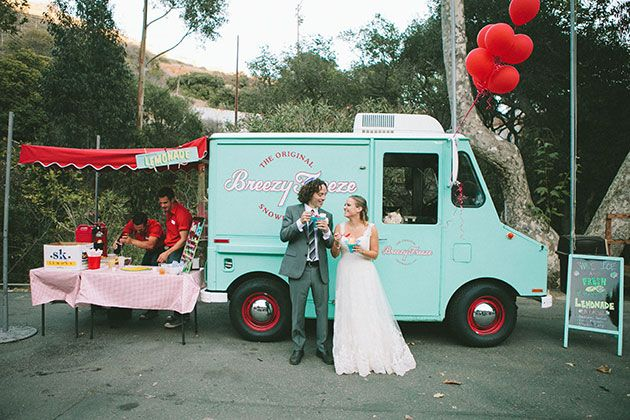Food Trucks for Your Wedding Reception : Brides