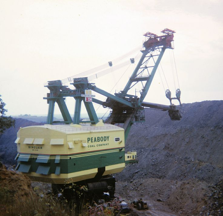 coal strip mine hydrolic shovel