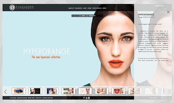 Responsive website Evagarden makeup Collections