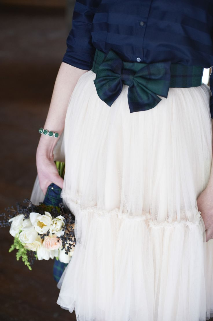 White dress by the shore - Tartan And Tulle Inspiration Shoot