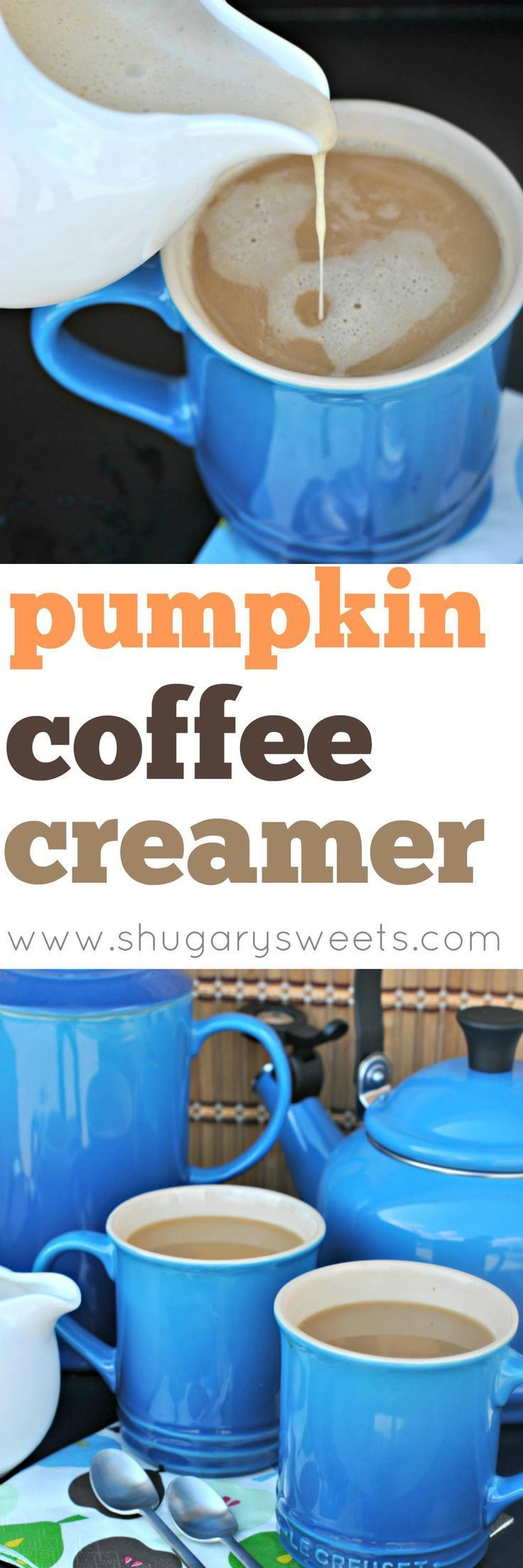 Make your own Pumpkin Spice Coffee Creamer at home with this easy, delicious recipe! Happy Fall!