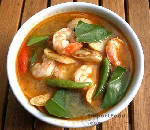 Thai Prawn Soup with Lemongrass, 'Tom Yum Goong'  www.Importfood.com ~ Best Thai import food site ever!!!!