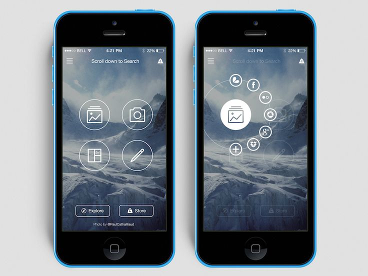Photo App - Mobile app interface UI UX