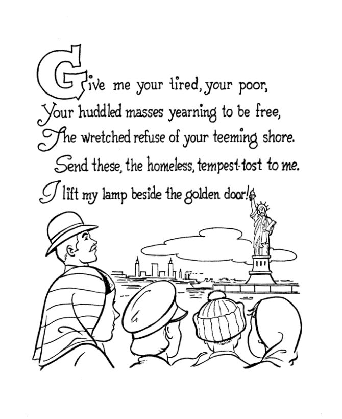 Statue Of Liberty Face Coloring Page. Statue Of Liberty Face Pages ...