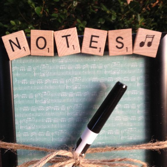 NOTES Dry Erase Message Board MUSIC lovers by CelebratingTheMoment