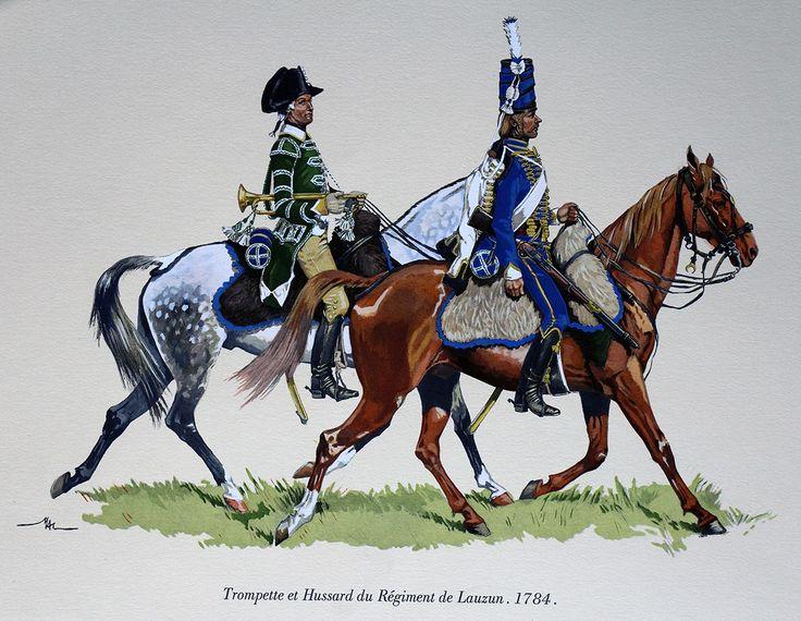 5° régiment de hussards (Lauzun) - 1784 - M. Dugué Mc Carthy