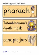 Ancient Egypt Topic Word Cards