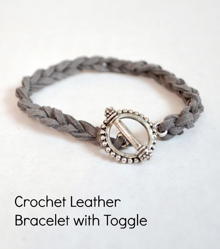 One Artsy Mama - http://www.oneartsymama.com/2013/10/easy-diy-stacking-bracelets-crocheted-leather-cord-bracelet.html