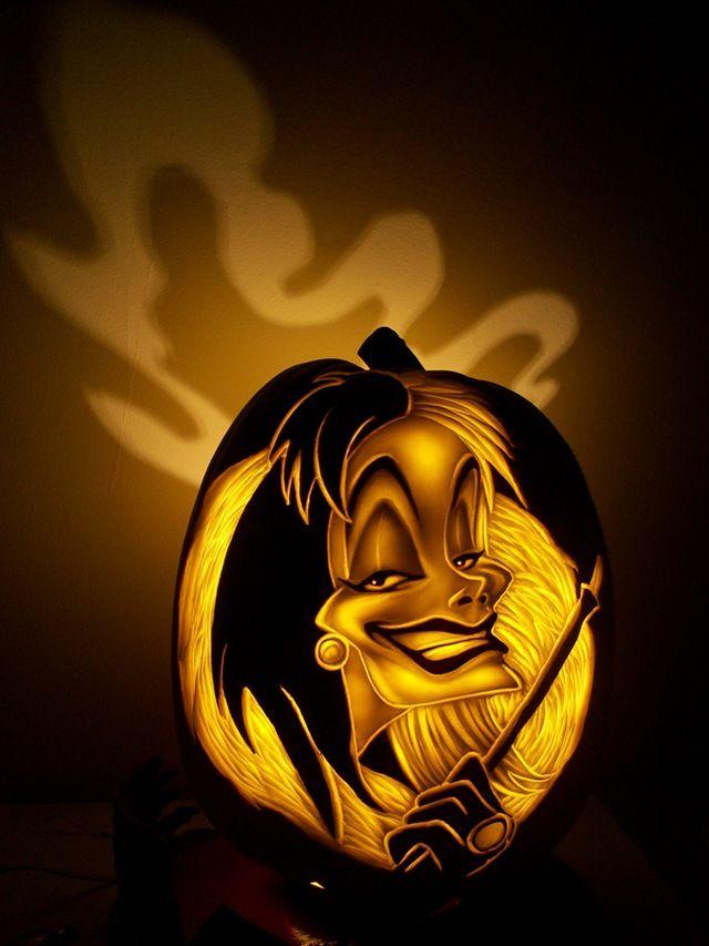 Best disney villains pumpkins images on pinterest