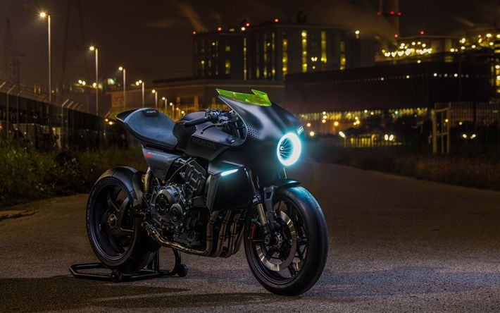 Download wallpapers Honda CB4 Interceptor, 4k, 2018 bikes, EICMA, superbikes, Honda