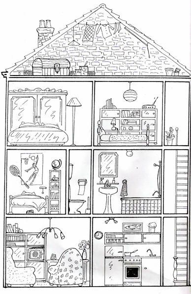 132 best Famille images on Pinterest Kindergarten, Dit ben ik and - Dessiner Maison D Gratuit