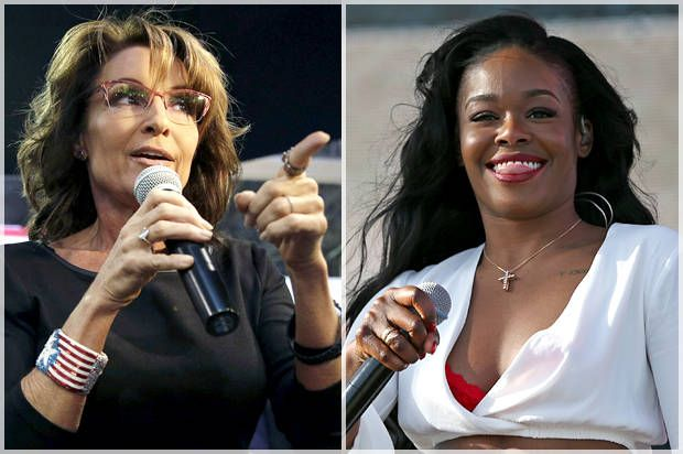 The rapper had gone on a Twitter rant against Palin after she was fooled by a satirical article