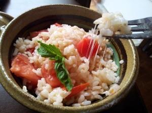 tomato basil risotto w fresh mozarella | Gluten free and Celiac | Pin ...