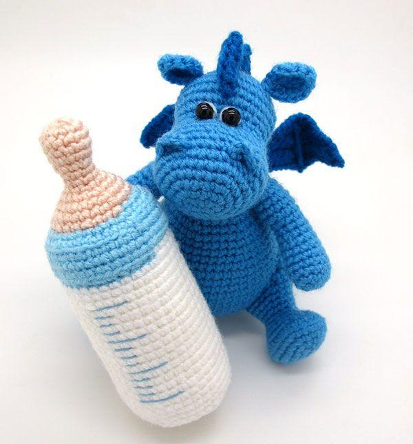 Cute Dragon Amigurumi Pattern : Grow baby dragon amigurumi crochet pattern by masha