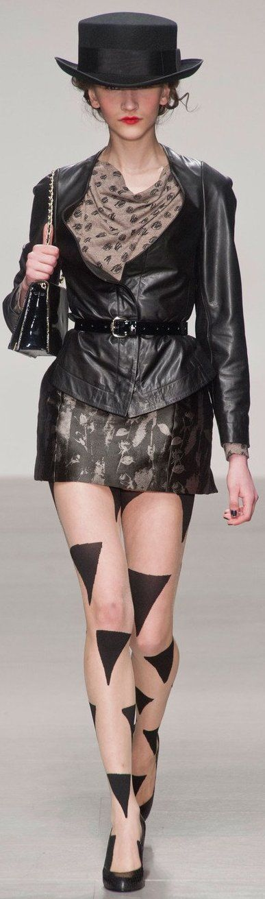Fall 2014 - Vivienne Westwood. She's got it all going on. Love you, Vivienne!