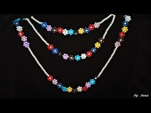 Beaded Necklace. Easy pattern for beginners.