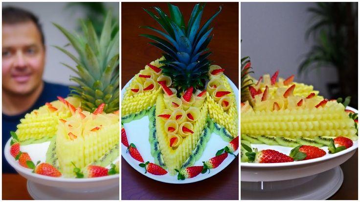 COMMENT FAIRE ce fruit délicieux CENTER Par J Pereira Art Fruit Sculpture