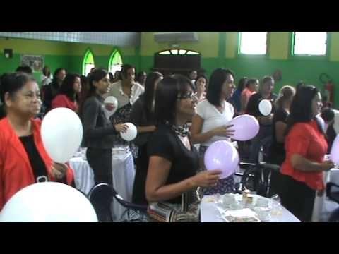 icaue: cha de mulheres : rute fazendo dinamica das bexigas 08/03/14 - YouTube