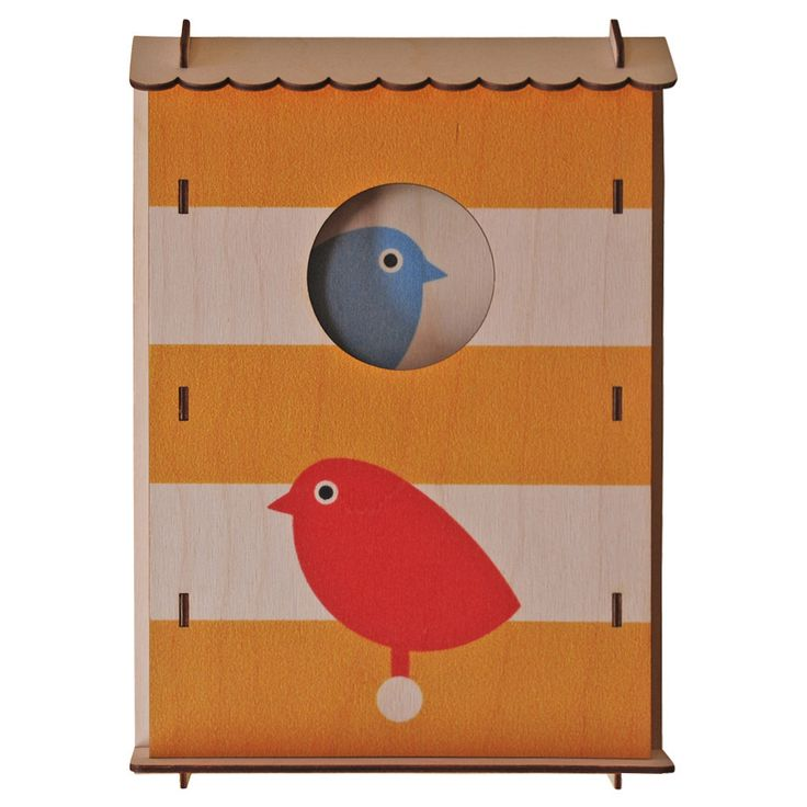 Bird Box. Fun wood wall or shelf art from Paul Ocepek with a cool 3D pop out effect.