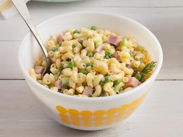 Get Food Network Kitchen's Macaroni Salad with Dill and Ham Recipe from Food Network