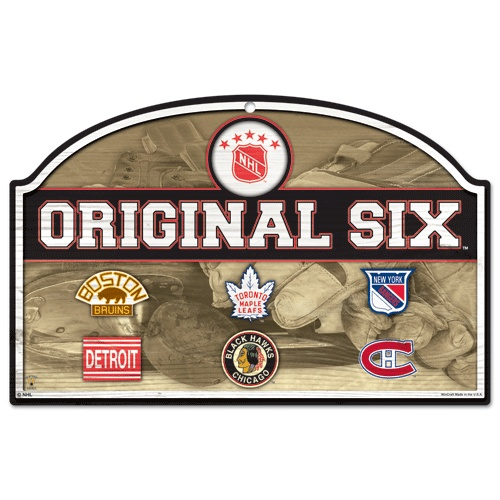 Original Six bar signAntiques Wood, Indoor Decor, Things Hockey, Wood Signs, Vintage Hockey, Nhl Vintage, Decor Signs, The Originals, 11 By 17 Inch Traditional