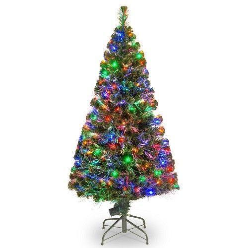 Fiber Optic Christmas Tree 5 Ft. Pre Lit 150 Lights Indoor Holiday Decorating  #NationalTreeCompany